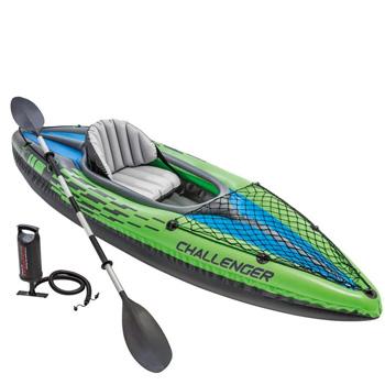 Intex Challenger K1 Kayak 1-Person Inflatable Fishing Kayak