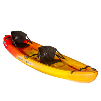 Ocean Kayak Malibu Two Tandem 12-Feet Sit-On-Top Recreational Kayak