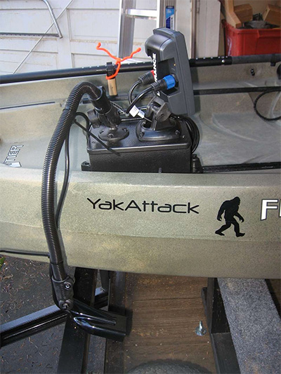 Installing Fish Finder Transducer in a kayak